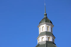 Spire of the tower against the sky Royalty Free Stock Photos