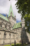 The spire of Trondheim Cathedral Stock Photos