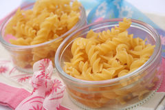 Spirelli pasta. Some uncooked italian pasta in a bowl Royalty Free Stock Image