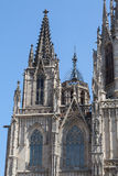 The Spires of Barcelona Cathedral Stock Image