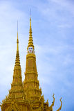 Spires of Cambodian Royal Palace Building Stock Photo