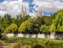 Spires of the Cathedral - Burgos Stock Photo