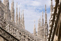 Spires of the Cathedral of Milan Stock Photo