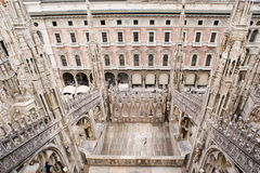 Spires of the Cathedral of Milan Royalty Free Stock Images