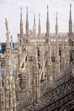 Spires of the Cathedral of Milan Stock Images