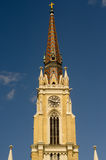 Spires of Catholic church in center of Novi Sad Stock Photography