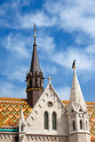 Matthias Church Architectural Details in Budapest Stock Image