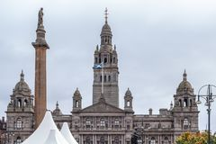 The Spires of Glasgow Council Buildings Scotland royalty free stock photos