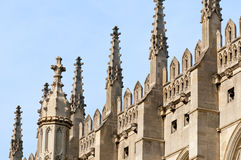 Spires of King's College Chapel, Cambridge. Stock Photos