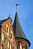 Spires of Koenigsberg Cathedral. Kaliningrad, Russia Stock Photos