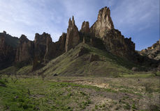 Spires in Leslie Gulch. In Eastern Oregon Stock Images