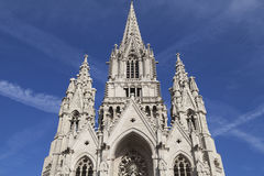 Spires of Notre Dame de Laeken. Spires of the neo-gothic church of Notre Dame de Laeken in Brussels, Belgium Stock Photography