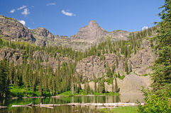 Spires over an Alpine Lake Stock Photos