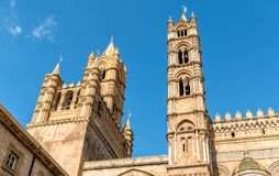 Spires of Palermo Cathedral churches, Sicily, Italy Royalty Free Stock Images
