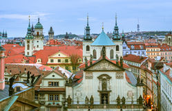 Spires and Rooftops, Old Town, Prague Royalty Free Stock Photo