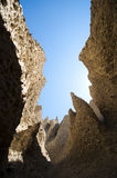 Spires of sandstone near the Rocky Mountains Stock Image