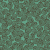 Spires seamless. Seamless background texture with many spirals and grunge effect, wallpaper pattern Stock Illustration