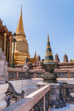 Spires and temples at Grand Palace, Thailand Stock Photo