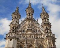 Spires of the Town Hall of Leuven. Belgium Stock Photo