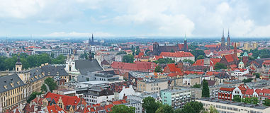 The spires of Wroclaw Royalty Free Stock Image