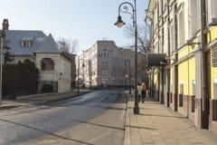 Spiridonovka-Straße MOSKAU, RUSSLAND - 12. April 2016: Lizenzfreie Stockfotografie