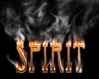 Spirit. The word spirit burning Stock Photos