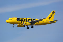Spirit Airlines Airbus A319 airplane Royalty Free Stock Photos