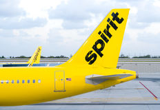 Spirit Airlines Airplane Royalty Free Stock Photos