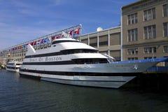 Spirit of Boston. The cruiseship Spirit of Boston docked at the Seaport World Trade Center Stock Photo