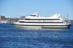 Spirit of Boston. Yacht named Spirit of Boston cruising in the Boston Harbor Royalty Free Stock Photos