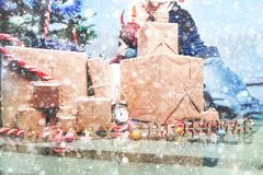 Spirit of Christmas and new year. Concept of a holiday and days Royalty Free Stock Images