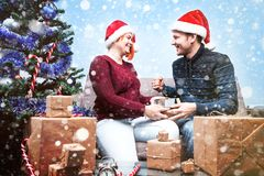 Spirit of Christmas and new year. Concept of a holiday and days Royalty Free Stock Image