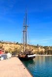 Spirit of Dana Point sailboat docked in Dana Point Harbor Royalty Free Stock Image