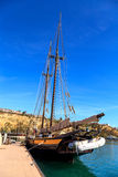 Spirit of Dana Point sailboat docked in Dana Point Harbor Stock Image