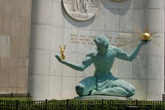 Spirit of Detroit stock images