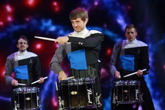 Spirit Drum and Bugle Corps ensemble play at Microsoft Convergence conference opening Stock Images