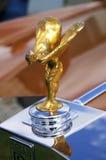 Spirit of Ecstasy. Golden Spirit of Ecstasy on a Rolls Royce royalty free stock image