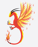 Spirit of fire dragon. The spirit of fire a dragon soars Stock Photo