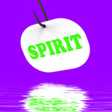 Spirit On Hook Displays Spiritual Body Or Purity Royalty Free Stock Images