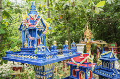 Spirit houses in ko phangan thailand Stock Image