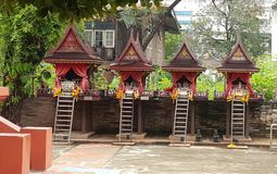 Spirit houses in Thailand  North East style Stock Image