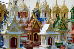 Spirit houses in Thailand. In a special shop Royalty Free Stock Photos