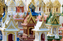 Spirit houses in Thailand. In a special shop Royalty Free Stock Images