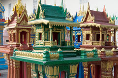 Spirit houses in Thailand. In a special shop Stock Photo