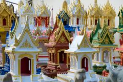 Spirit houses in Thailand. In a special shop Royalty Free Stock Image