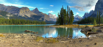 Spirit Isalnd in Maligne Lake Royalty Free Stock Image