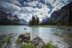 Spirit Island, Jasper National Park, Canadian Rockies, Maligne L. Ake, near Jasper, Alberta, Canada Royalty Free Stock Photos