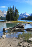 Spirit Island on the Maligne Lake Royalty Free Stock Photos