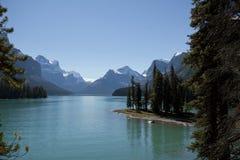 Spirit Island Maligne Lake Alberta. Spirit Island Jasper National park Alberta Canada Stock Images