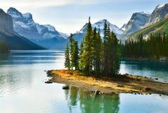 Spirit Island in Maligne Lake,Canada. Spirit Island in Maligne Lake, Jasper National Park, Alberta, Canada Royalty Free Stock Photos